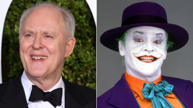 John Lithgow and Jack Nicholson as The Joker