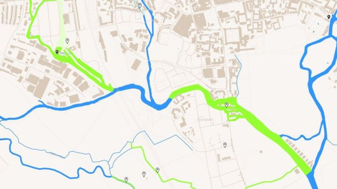Map Of Uk Oxford.Oxford Online Flood Map Launched Bbc News