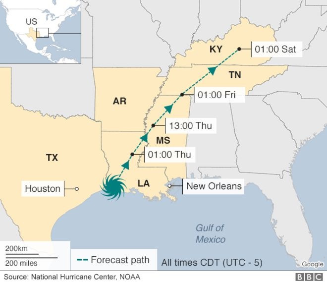 In Maps Houston And Texas Flooding BBC News - Hurricane danger map of the us