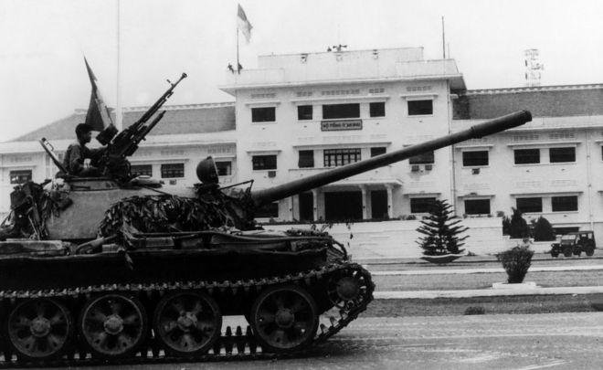 South Vietnam's surrender North Vietnamese military in 1975