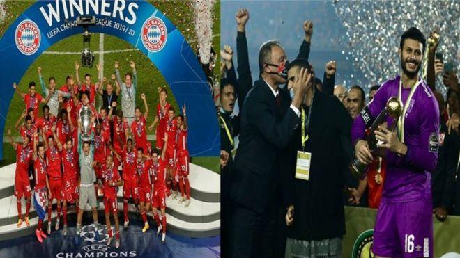 الأهلي بطل أبطال دوري أفريقيا ونظيره الأوروبي بايرن ميونيخ
