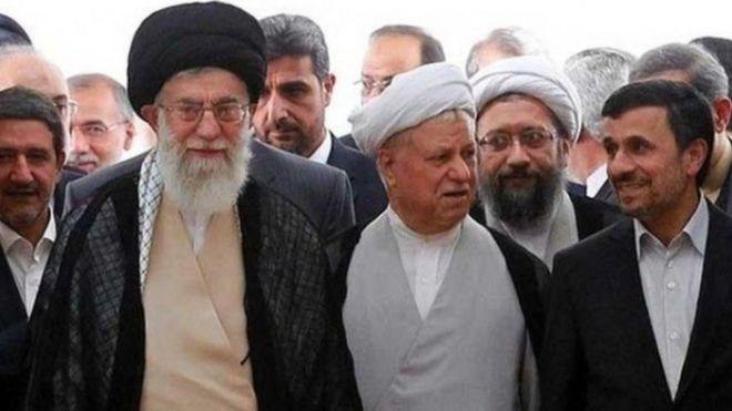 محمود احمدی نژاد، اکبر هاشمی رفسنجانی و آیت الله خامنه ای