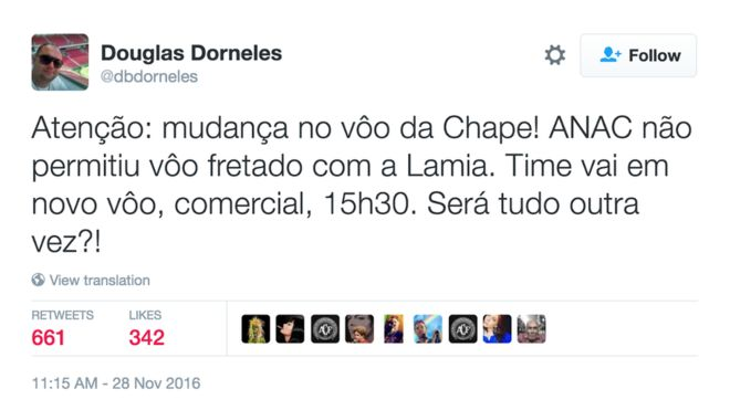 ¿Por qué Chapecoense cambió de avión en Bolivia en su viaje hacia Medellín?