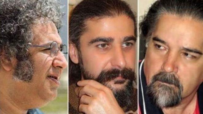 از سمت راست: رضا خندان مهابادی، کیوان باژن و بکتاش آبتین