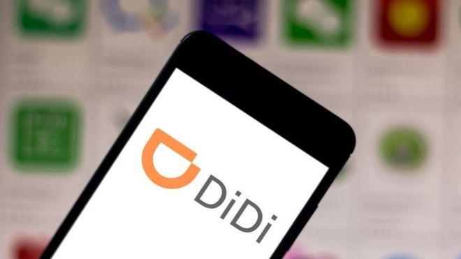 Celular con la aplicación Didi Chuxing
