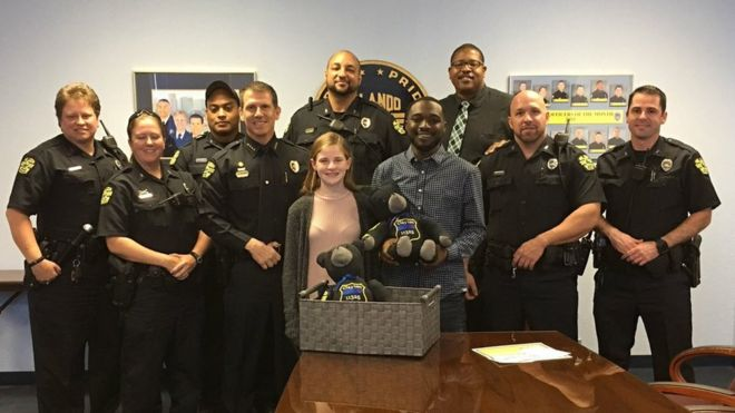 79677ebd48d Florida teen makes teddy bears from fallen police officers  uniforms ...