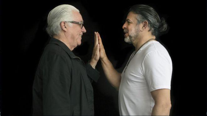 """Luis Enrique Mejía Godoy y Luis Enrique Mejía López, """"el príncipe de la salsa""""."""