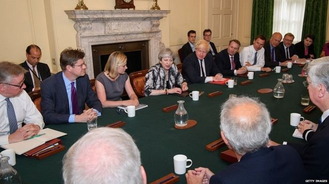 Theresa May chairs Cabinet meeting
