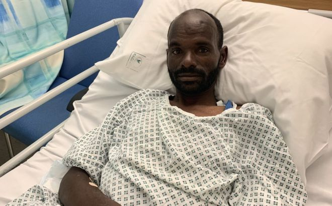 Mohammed Adam Oga is being treated at Malta's Mater Dei hospital for dehydration