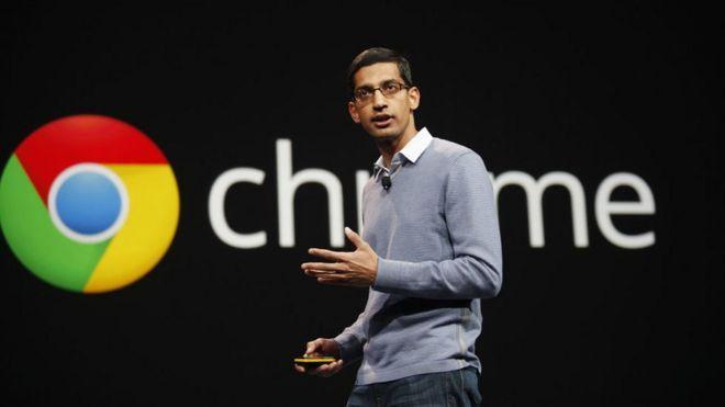 Sundar Pichai, vicepresidente de Chrome en una presentación.