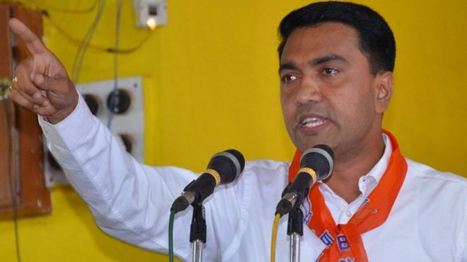 Image result for गोवा के मुख्यमंत्री प्रमोद सावंत