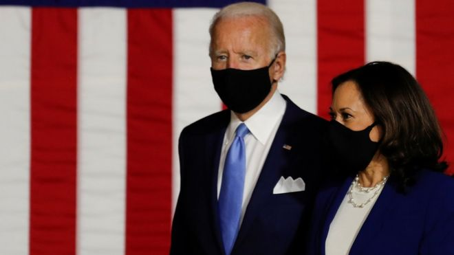 US 2020: Biden campaign says Trump 'abhorrent' for fuelling Harris conspiracy