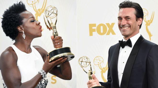 Viola Davis and Jon Hamm won Emmys in 2015