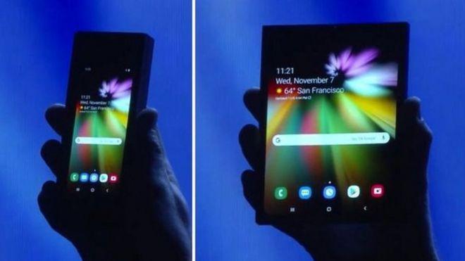سامسونغ تكشف النقاب عن هاتف ذكي جديد بشاشة قابلة للطي