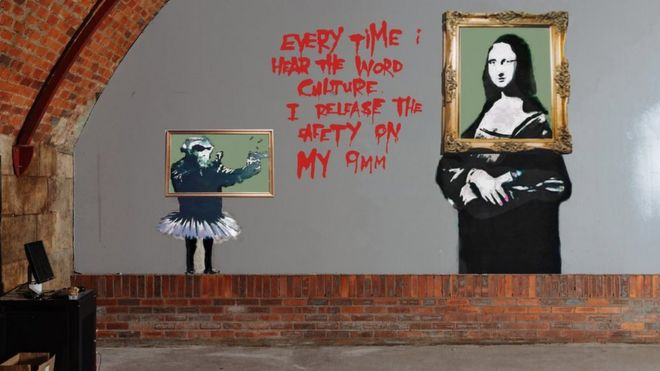 Work Starts To Restore Painted Over Banksy Murals Bbc News