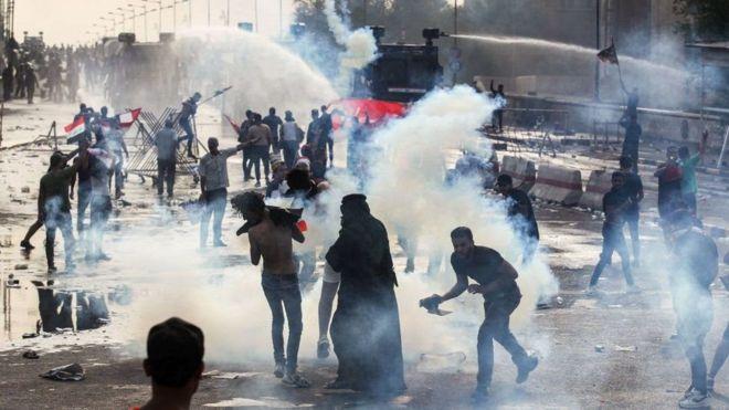 """مظاهرات العراق: تعكس """"تذمرا شعبيا"""""""