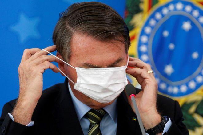 الرئيس البرازيلي يائير بولسونارو