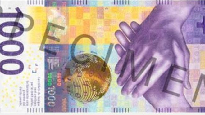 Tờ tiền 1.000 franc là một trong những tờ tiền có giá trị nhất thế giới
