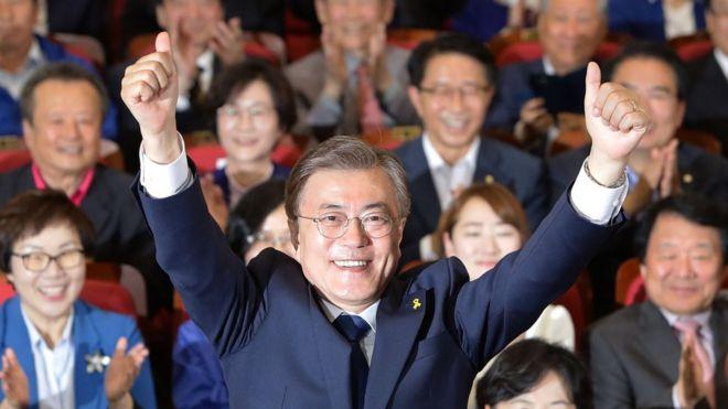 Ông Moon Jae-in giành chiến thắng trong cuộc bầu cử tổng thống Nam Hàn, theo kết quả thăm dò sau bỏ phiếu
