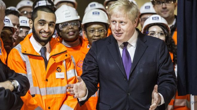 Борис Джонсон и работники Crossrail