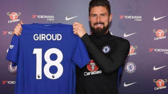 pretty nice cec97 d21b1 Chelsea ta dauki Olivier Giroud - BBC News Hausa
