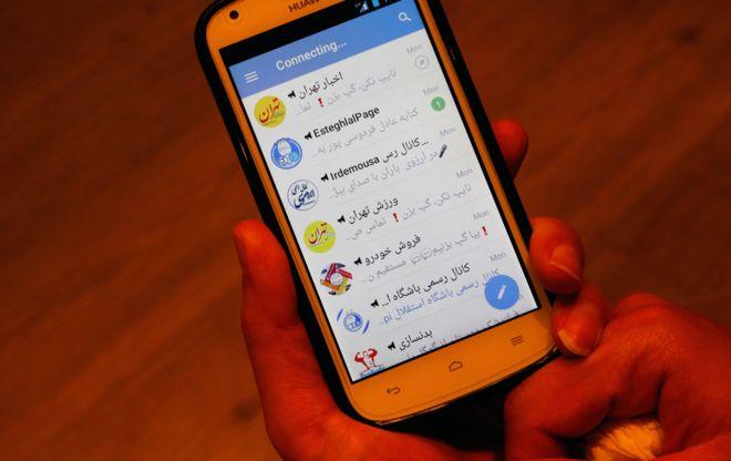 Иранский пользователь пытается зайти в Телеграм после блокировки