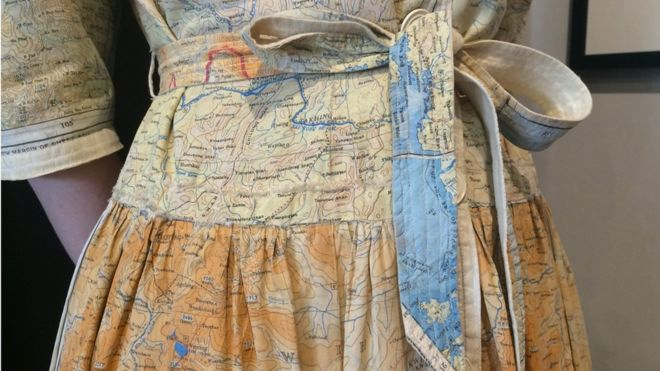 Ww2 silk escape map dress sold in harrogate bbc news image caption at the end of the war when fabric was still rationed soldiers returned home with the maps and they were used to make clothes gumiabroncs Images