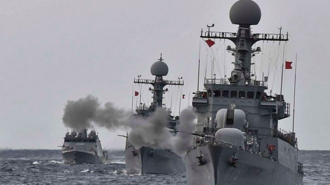 Ensayos navales de Corea del Sur