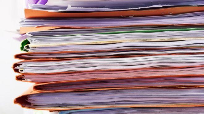 Pilha de papéis
