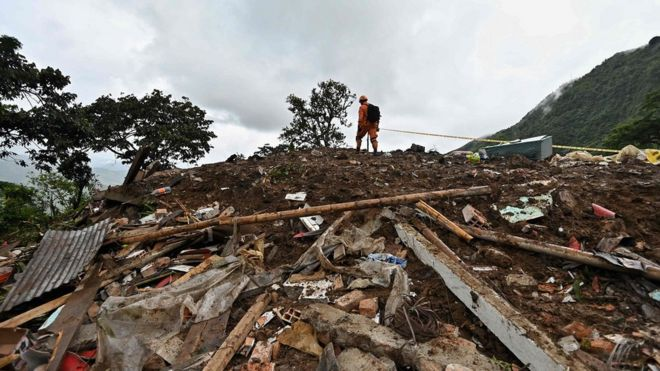 Colombia landslide: At least 17 killed and five injured/bbc