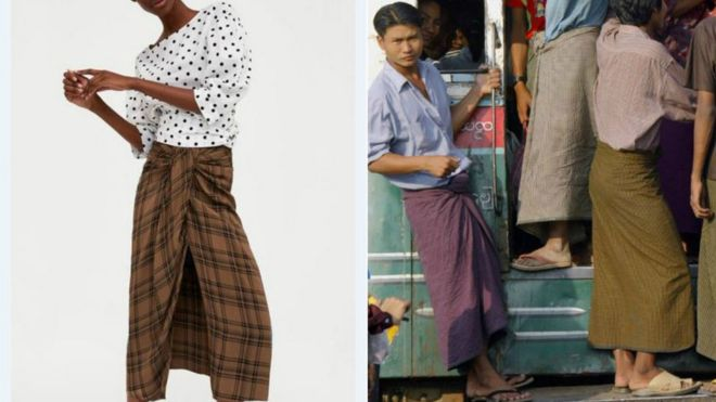 90fcabef Zara's lungi lookalike mocked by Asian internet - BBC News