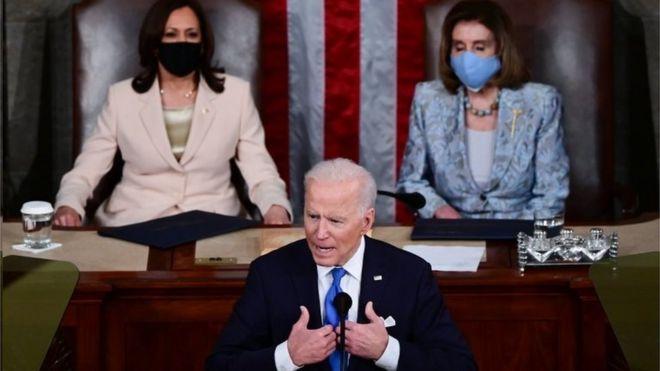 Biden em discurso no Congresso para marcar seus 100 primeiros dias no cargo
