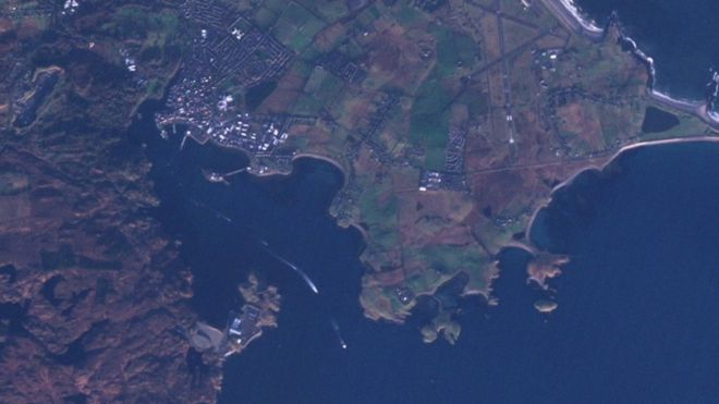 Satellite image showing Iolaire commemoration