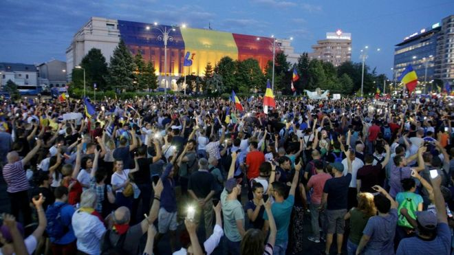 Thousands of Romanians joined an anti-government rally in the capital Bucharest, on August 11, 2018