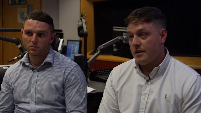 Lewis Tribble (left) and Joe Stickler