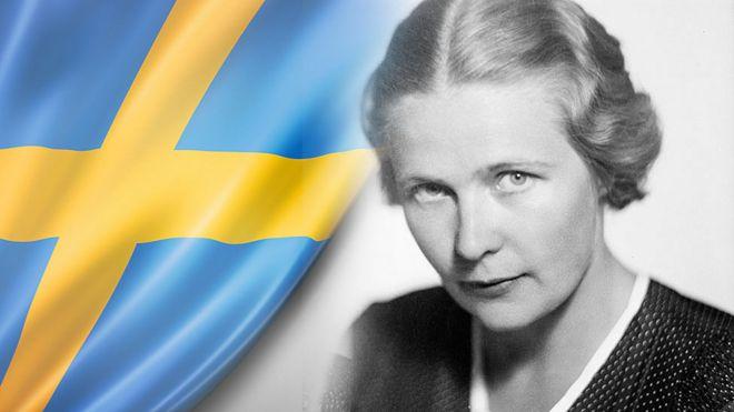Alva Myrdal (Foto de Jan de Meyere, (1879-1950), número JdM 1802, Stockholmskällan)