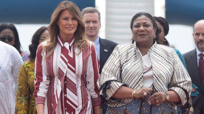 Image result for melania trump's africa trip