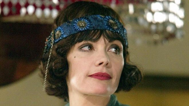 Actress Marie Trintignant pictured on the set of French TV series Colette