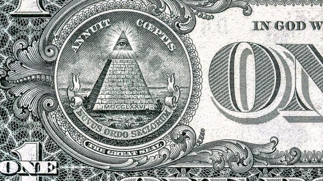 Те, кто во всем склонен видеть заговоры, считают, что определенные знаки на долларовых купюрах подтверждают влияние в мире иллюминатов