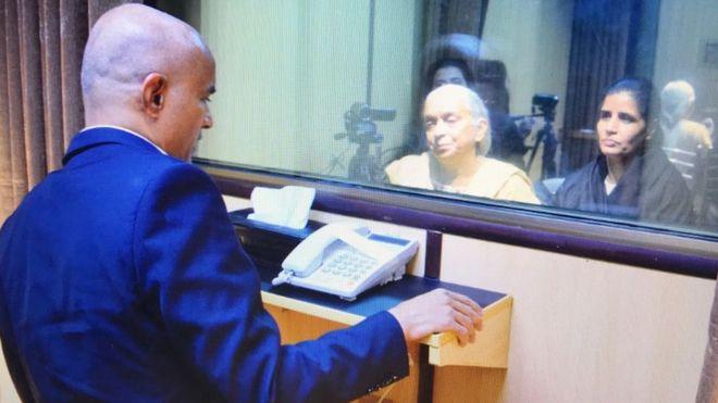 Kulbushan Jadhav: Pakistan lets family meet 'Indian spy