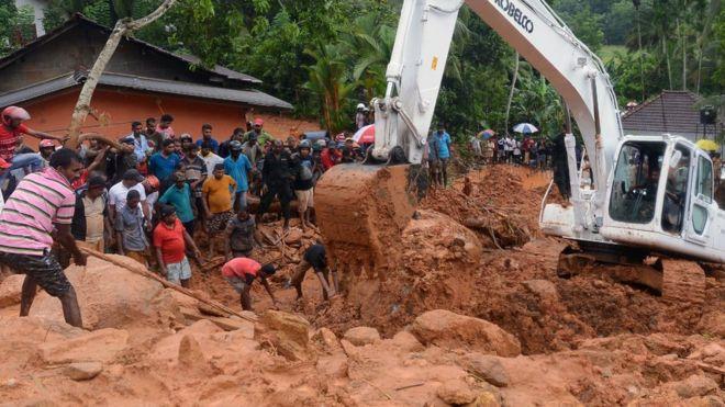 Sri Lanka floods: Scores die as monsoon triggers mudslides