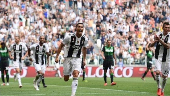 5a8ee7ff3 Juventus: Cristiano 'Ororo' Ronaldo don finally score first Serie A ...
