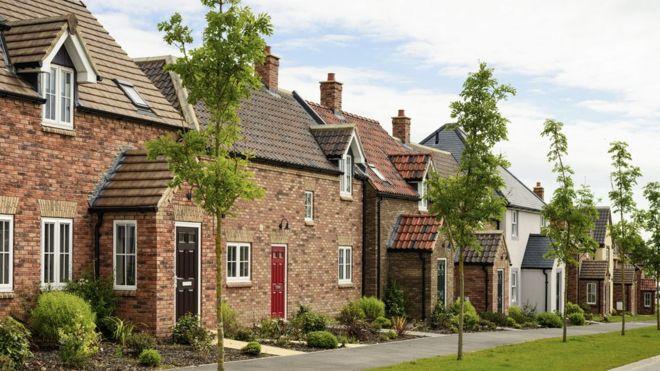 row of modern houses