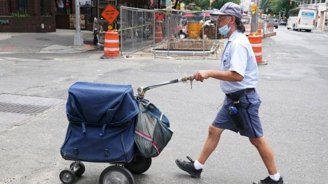 Postal walker in New York
