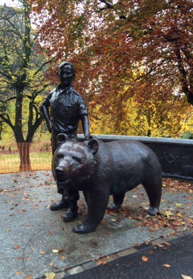 Wojtek The Bear Statue