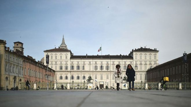 Piazza Castello, Turín.