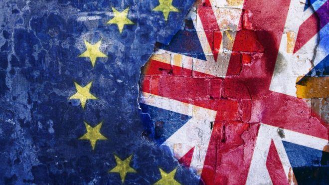 Gráfico de Reino Unido rompiendo con la UE.