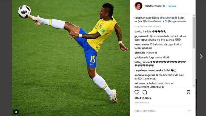 Resultado de imagem para Paulinho se equilibra na ponta do pé esquerdo