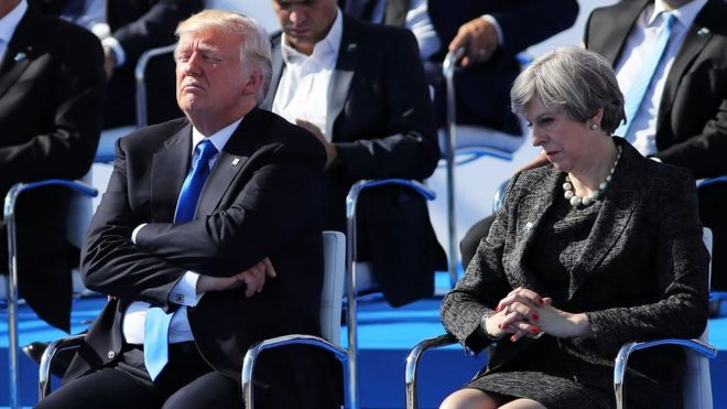 Donald Trump và Theresa May