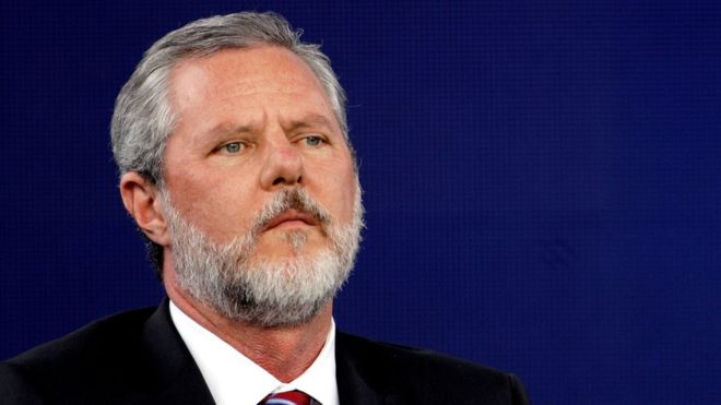 Jerry Falwell Jr quits Liberty University role amid sex scandal